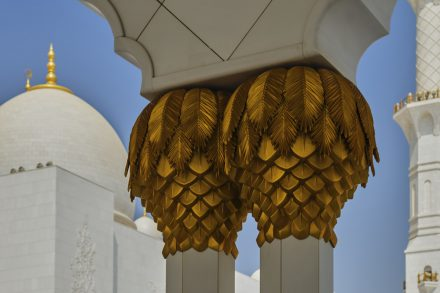 Twin column capitals with date palm detailing (Sheikh Zayed Grand Mosque, Abu Dhabi)