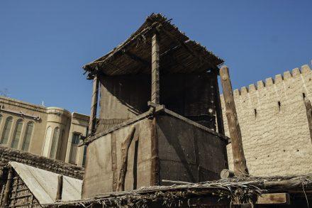 Windtower on barasti house
