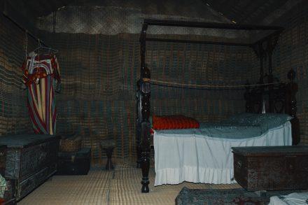 Barasti (date palm material) home - bedroom