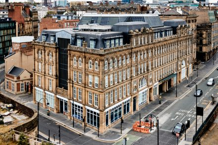 Architectural photography image of St. Nicholas building - Newcastle upon Tyne - UK - taken from a high vantage point