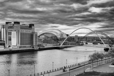 CItyscape - Gateshead Quayside from Newcastle - Baltic - The Sage - Tyne bridges