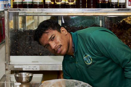 Image of date shop sales person