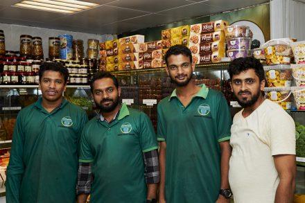 Image of date market shop sales team
