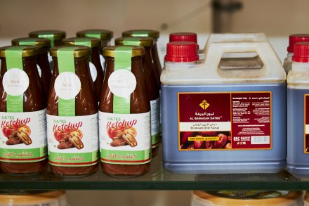 Image of date products - date ketchup and date syrup