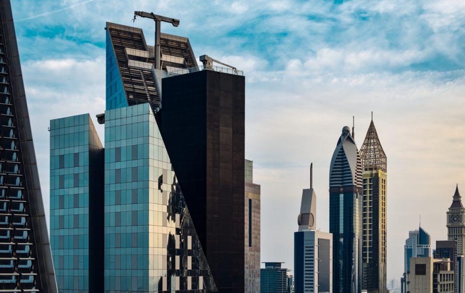 City views - Dubai - UAE - Sheikh Zayed Road skyline