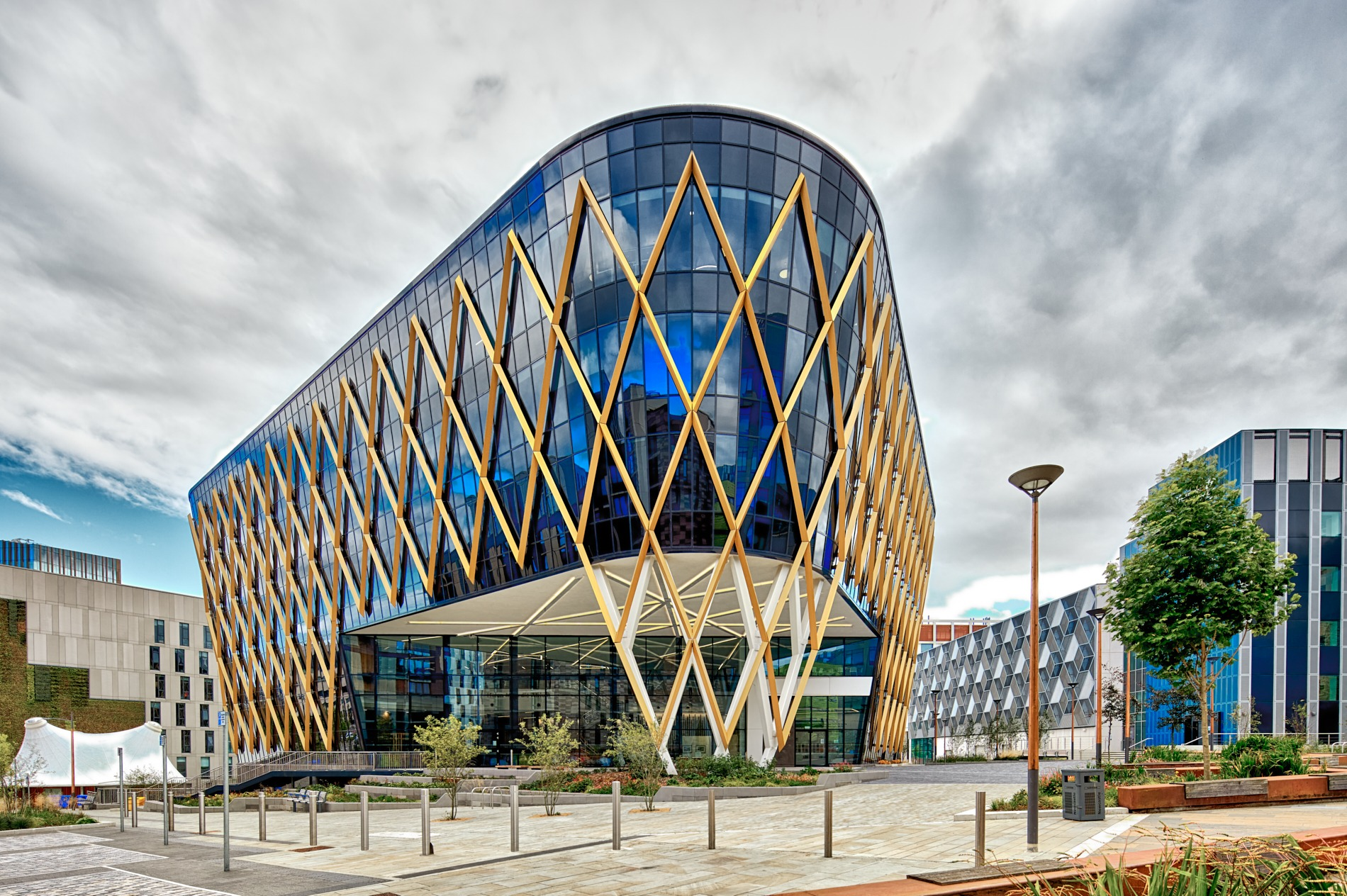 Architectural photography - Image of the Catalyst building at Newcastle Helix