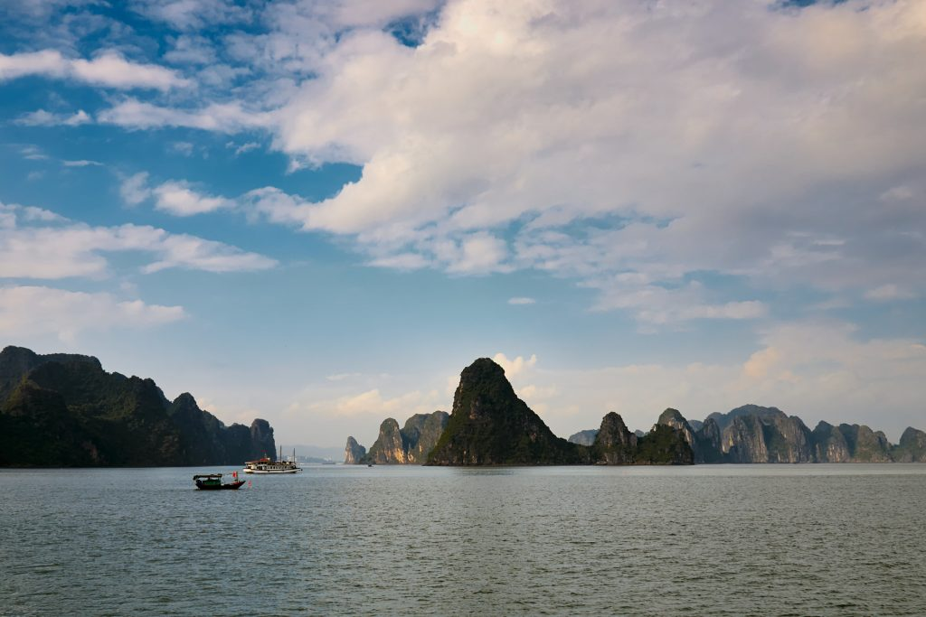 Travel photography - Image of boats in Ha Long Bay, Vietnam
