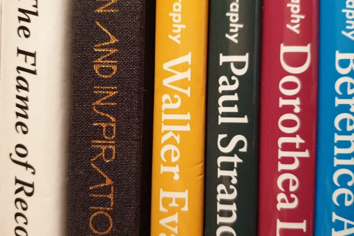 Book reviews - Supporting image of photography books on a shelf