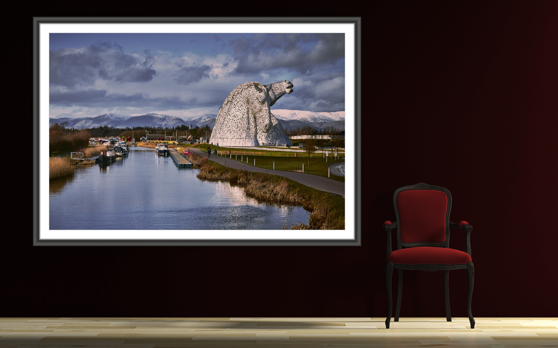 Fine art landscape: Wall art - The Kelpies - Scotland - Sculptor: Andy Scott