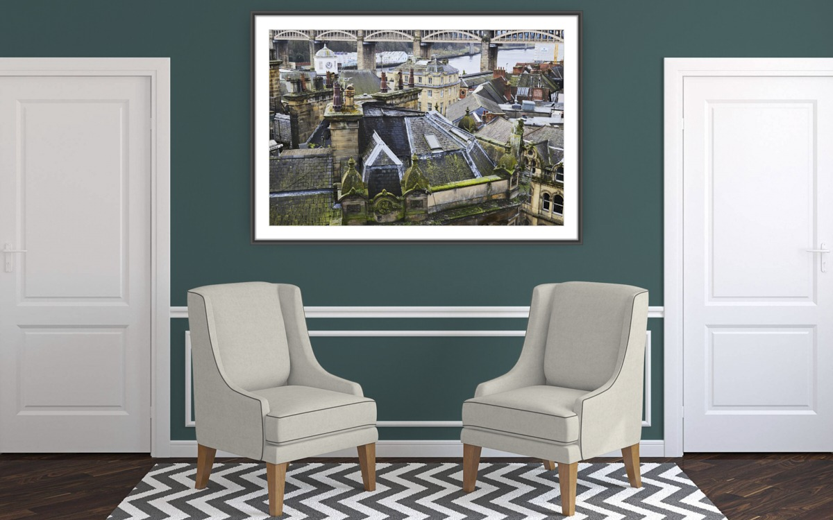 Fine art architectural photography - Cityscape - Roofscape - Newcastle upon Tyne - UK