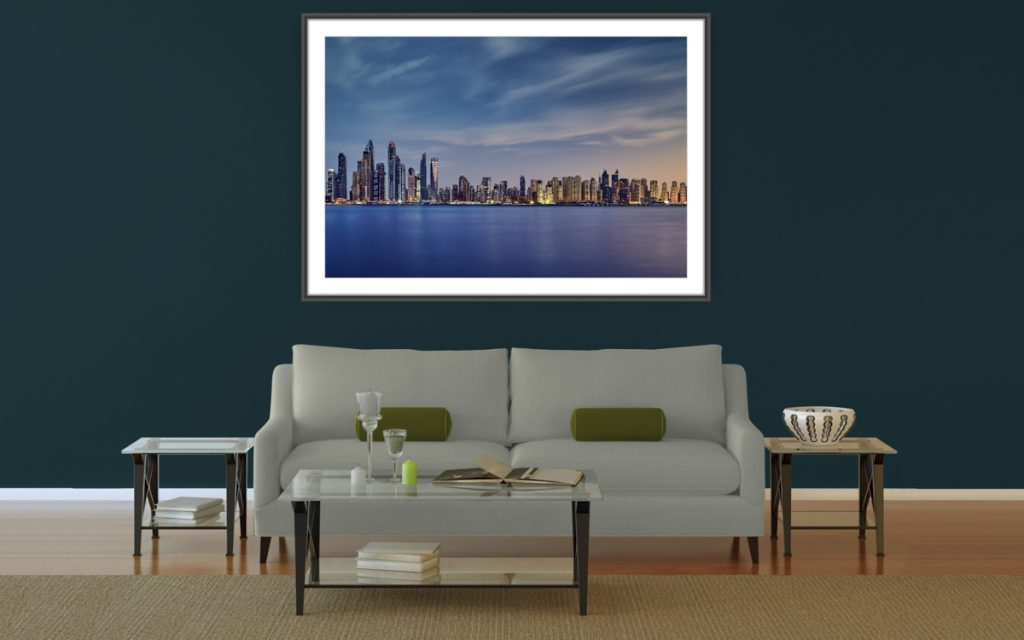City views - Image showing Dubai Marina and Jumeirah Beach skyline, as seen from Palm Jumeirah