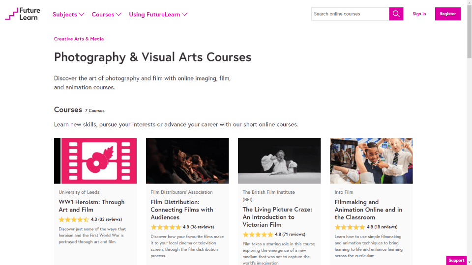 Image - Screenshot of FutureLearn website for CPD purposes