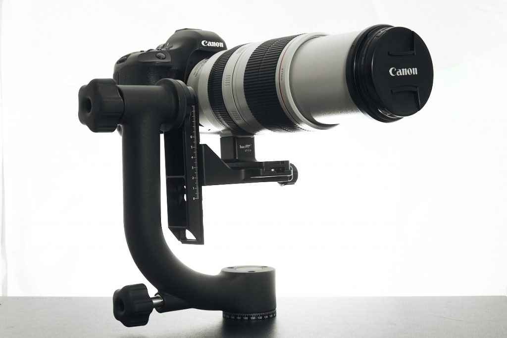 Image - DSLR and telephoto lens on gimbal