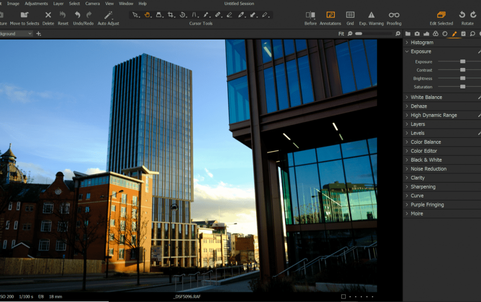 Screenshot of Capture One Pro image editing software