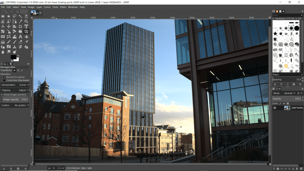 Screenshot of GIMP image editing software