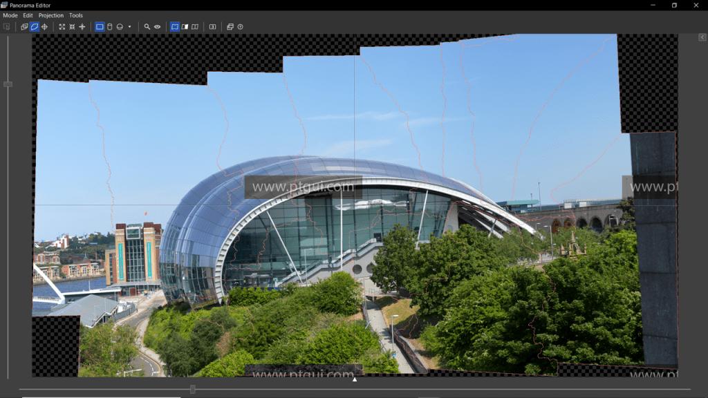 Image: Screenshot of PTGUI panorama stitching software application