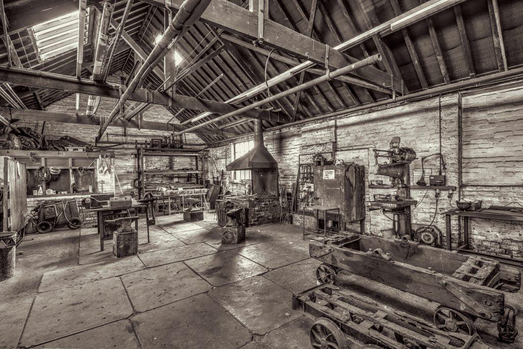 Image: Blacksmith workshop at Bowes Railway Museum, gateshead, Tyne and Wear, UK