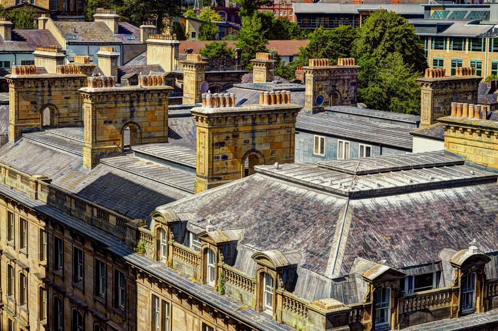 Image of a view across the rooftops of Newcastle upon Tyne UK - for sale as NFT